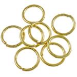 Iron Mbyllur Ring Jump, Hekur, Petull e ëmbël në formë gjevreku, ngjyrë ari praruar, asnjë, , nikel çojë \x26amp; kadmium falas, 1.20x10mm, : 8mm, 3800PC/Qese,  Qese