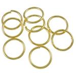 Iron Mbyllur Ring Jump, Hekur, Petull e ëmbël në formë gjevreku, ngjyrë ari praruar, asnjë, , nikel çojë \x26amp; kadmium falas, 0.80x8mm, : 6.4mm, 10860PC/Qese,  Qese