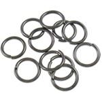 Iron Mbyllur Ring Jump, Hekur, Petull e ëmbël në formë gjevreku, plumbit ngjyrë të zezë praruar, asnjë, , nikel çojë \x26amp; kadmium falas, 0.90x7mm, : 5mm, 10000PC/Qese,  Qese