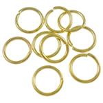 Iron Mbyllur Ring Jump, Hekur, Petull e ëmbël në formë gjevreku, ngjyrë ari praruar, asnjë, , nikel çojë \x26amp; kadmium falas, 0.70x6mm, : 4.5mm, 15380PC/Qese,  Qese