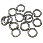 Iron Mbyllur Ring Jump, Hekur, Petull e ëmbël në formë gjevreku, plumbit ngjyrë të zezë praruar, asnjë, , nikel çojë \x26amp; kadmium falas, 0.90x5mm, : 3.5mm, 13500PC/Qese,  Qese