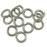 Iron Mbyllur Ring Jump, Hekur, Petull e ëmbël në formë gjevreku, ngjyrë platin praruar, asnjë, , nikel çojë \x26amp; kadmium falas, 1.20x6mm, : 3.5mm, 7350PC/Qese,  Qese