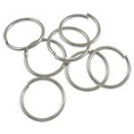Iron Mbyllur Ring Jump, Hekur, Petull e ëmbël në formë gjevreku, ngjyrë platin praruar, asnjë, , nikel çojë \x26amp; kadmium falas, 0.90x10mm, : 8.5mm, 7270PC/Qese,  Qese