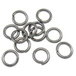 Iron Mbyllur Ring Jump, Hekur, Petull e ëmbël në formë gjevreku, plumbit ngjyrë të zezë praruar, asnjë, , nikel çojë \x26amp; kadmium falas, 0.80x5mm, : 3.4mm, 19200PC/Qese,  Qese