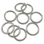 Iron Mbyllur Ring Jump, Hekur, Petull e ëmbël në formë gjevreku, ngjyrë platin praruar, asnjë, , nikel çojë \x26amp; kadmium falas, 1.20x9mm, : 6.5mm, 4760PC/Qese,  Qese
