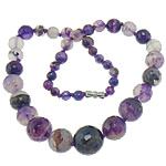 Agat Gjerdan, Purple agat, 6-16mm, : 18Inç, 5Fillesat/Shumë,  Shumë