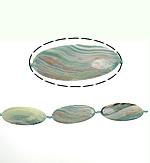 Agat Beads, dantella agat, Oval, i lyer, 59x26x6.50mm, : 2mm, : 15.5Inç, 5Fillesat/Shumë,  Shumë