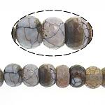 Natyrore kërcitje Beads Zjarri agat, YouTube Fire agat, Rondelle, natyror, 10.5-12x15-16mm, : 2mm, : 15Inç, 2Fillesat/Shumë,  Shumë