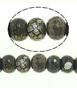 Natyrore kërcitje Beads Zjarri agat, YouTube Fire agat, Rondelle, natyror, 15x12mm, : 2.5mm, : 15Inç, 2Fillesat/Shumë,  Shumë