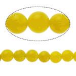 Natürliche gelbe Achat Perlen, Gelber Achat, rund, 6mm, Bohrung:ca. 1mm, Länge:ca. 15.5 ZollInch, 10SträngeStrang/Menge, ca. 65PCs/Strang, verkauft von Menge