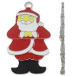 Pendants aliazh zink Krishtlindjeve, Alloy zink, Santa Claus, , nikel çojë \x26amp; kadmium falas, 19x32.50x2mm, : 3.2mm, 100PC/Qese,  Qese