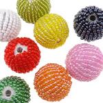Seed Glass Beads përziera, i përzier, 22.50x24mm, : 4mm, 100PC/Qese,  Qese
