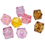 AB-ngjyra akrilik Beads kromuar, Diamant, Ngjyra AB kromuar, ngjyra të forta, ngjyra të përziera, 12mm, : 3.5mm, 5KG/Shumë,  Shumë