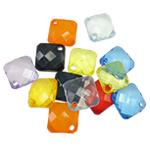 Pendants akrilik, Romb, i tejdukshëm, ngjyra të përziera, 18x6mm, : 2.5mm, 5KG/Shumë,  Shumë