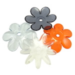Beads transparente akrilik, Lule, i tejdukshëm, ngjyra të përziera, 65x5.50mm, : 6.5mm, 5KG/Shumë,  Shumë