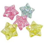 Beads transparente akrilik, Yll, i tejdukshëm, ngjyra të përziera, 35x13mm, : 4mm, 5KG/Shumë,  Shumë