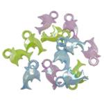 Pendants akrilik, Kafshë, Ngjyra AB kromuar, ngjyra të forta, ngjyra të përziera, 20x13.50x4mm, : 3.5mm, 5KG/Shumë,  Shumë