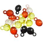 Pendants akrilik, Oval, i tejdukshëm, ngjyra të përziera, 18.50x11.50x6mm, : 3.5mm, 5KG/Shumë,  Shumë