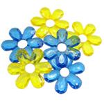 Pendants akrilik, Lule, i tejdukshëm, ngjyra të përziera, 45x5mm, : 2.5mm, 5KG/Shumë,  Shumë