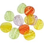 Beads transparente akrilik, Shape Tjera, i tejdukshëm, ngjyra të përziera, 12.50x11.50x4mm, : 1.5mm, 5KG/Shumë,  Shumë