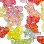 AB-ngjyra akrilik Beads kromuar, Kafshë, Ngjyra AB kromuar, i tejdukshëm, ngjyra të përziera, 21.50x16x9.50mm, : 3mm, 5KG/Shumë,  Shumë