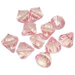 Pendants akrilik, Diamant, i tejdukshëm, ngjyra të përziera, 21x17.50mm, : 2.5mm, 5KG/Shumë,  Shumë