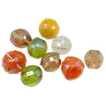 Beads akrilik të përziera, Shape përziera, i tejdukshëm, ngjyra të përziera, 12-14mm, : 3.5-4.5mm, 5KG/Shumë,  Shumë