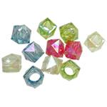 AB-ngjyra akrilik Beads kromuar, Diamant, Ngjyra AB kromuar, i tejdukshëm, ngjyra të përziera, 12mm, : 7mm, 5KG/Shumë,  Shumë