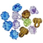 Pendants akrilik, Lule, i tejdukshëm, ngjyra të përziera, 10x10.50mm, : 3.5mm, 5KG/Shumë,  Shumë