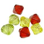 Beads transparente akrilik, Bicone, i tejdukshëm, ngjyra të përziera, 22x20mm, : 3mm, 5KG/Shumë,  Shumë