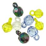 Pendants akrilik, Round, i përzier, ngjyra të përziera, 16x10mm, : 2.7mm, 5KG/Shumë,  Shumë