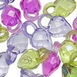 AB-ngjyra akrilik Beads kromuar, Lot, Ngjyra AB kromuar, i tejdukshëm, ngjyra të përziera, 14x8mm, : 3.5mm, 5KG/Shumë,  Shumë