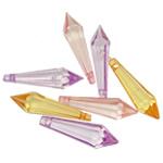 Pendants akrilik, Lot, i tejdukshëm, ngjyra të përziera, 28x8mm, : 2mm, 5KG/Shumë,  Shumë