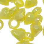 Pendants akrilik, Bicone, Ngjyra AB kromuar, ngjyra të forta, ngjyra të përziera, 13.50x7mm, : 3.5mm, 5KG/Shumë,  Shumë