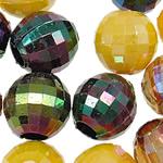 AB-ngjyra akrilik Beads kromuar, Round, Ngjyra AB kromuar, ngjyra të forta, ngjyra të përziera, 12mm, : 5mm, 5KG/Shumë,  Shumë