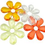 Pendants akrilik, Lule, i tejdukshëm, ngjyra të përziera, 58x7mm, : 10mm, 5KG/Shumë,  Shumë