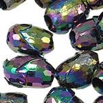 AB-ngjyra akrilik Beads kromuar, Lule, Ngjyra AB kromuar, 15x10mm, : 4.5mm, 5KG/Shumë,  Shumë