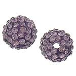 Rrëshirë Beads diamant i rremë, Rrëshirë diamant i rremë, Round, asnjë, me diamant i rremë, mashtrues kuqe carmine, 10mm, : 3mm, 50PC/Qese,  Qese