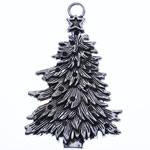 Pendants aliazh zink Krishtlindjeve, Alloy zink, Pema e Krishtlindjeve, Ngjyra antike argjendi praruar, asnjë, , nikel çojë \x26amp; kadmium falas, 68.50x44x3.50mm, : 6mm, 10PC/Qese,  Qese