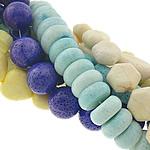 Beads Natyrore Coral, Sponge Coral, Shape përziera, asnjë, ngjyra të përziera, 9-12x7-25mm, : 1-2mm, :15-19Inç,  KG