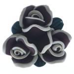 Beads polimer balta, Polymer Clay, Lule, asnjë, e zezë, 25x24x13mm, : 1.5mm, 100PC/Qese,  Qese