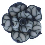 Beads polimer balta, Polymer Clay, Lule, asnjë, 26x25x12.50mm, : 2mm, 100PC/Qese,  Qese