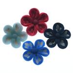 Beads polimer balta, Polymer Clay, Lule, asnjë, ngjyra të përziera, 22-24mm, : 1.5-2mm, 100PC/Qese,  Qese