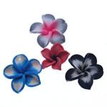 Beads polimer balta, Polymer Clay, Lule, asnjë, ngjyra të përziera, 25-32mm, : 1.5-2mm, 100PC/Qese,  Qese