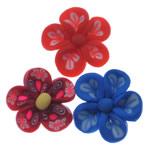 Beads polimer balta, Polymer Clay, Lule, asnjë, ngjyra të përziera, 21-24mm, : 1.5mm, 100PC/Qese,  Qese
