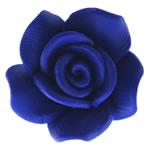 Beads polimer balta, Polymer Clay, Lule, asnjë, blu të errët, 17x17.50x11mm, : 2mm, 100PC/Qese,  Qese
