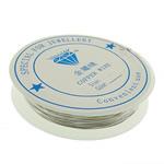 Wire bakri, Tunxh, asnjë, ngjyrë platin, , nikel çojë \x26amp; kadmium falas, 0.40mm, 10PC/Shumë,  Shumë