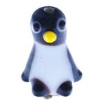 Lampwork Kafshëve, Pinguin, punuar me dorë, 13.50x20x12mm, : 2mm, 20PC/Qese,  Qese