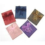 Karton Set bizhuteri Box, Drejtkëndësh, ngjyra të përziera, 80x70x30mm, 24PC/Shumë,  Shumë