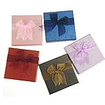 Karton Set bizhuteri Box, Katror, ngjyra të përziera, 90x90x35mm, 24PC/Shumë,  Shumë